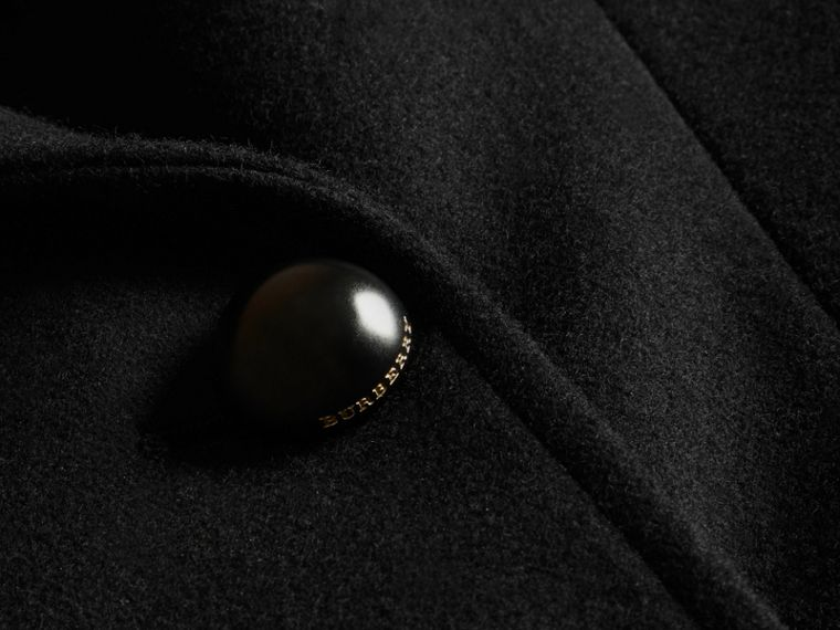 Tailored Wool Blend Jacket in Black - Women | Burberry - cell image 1