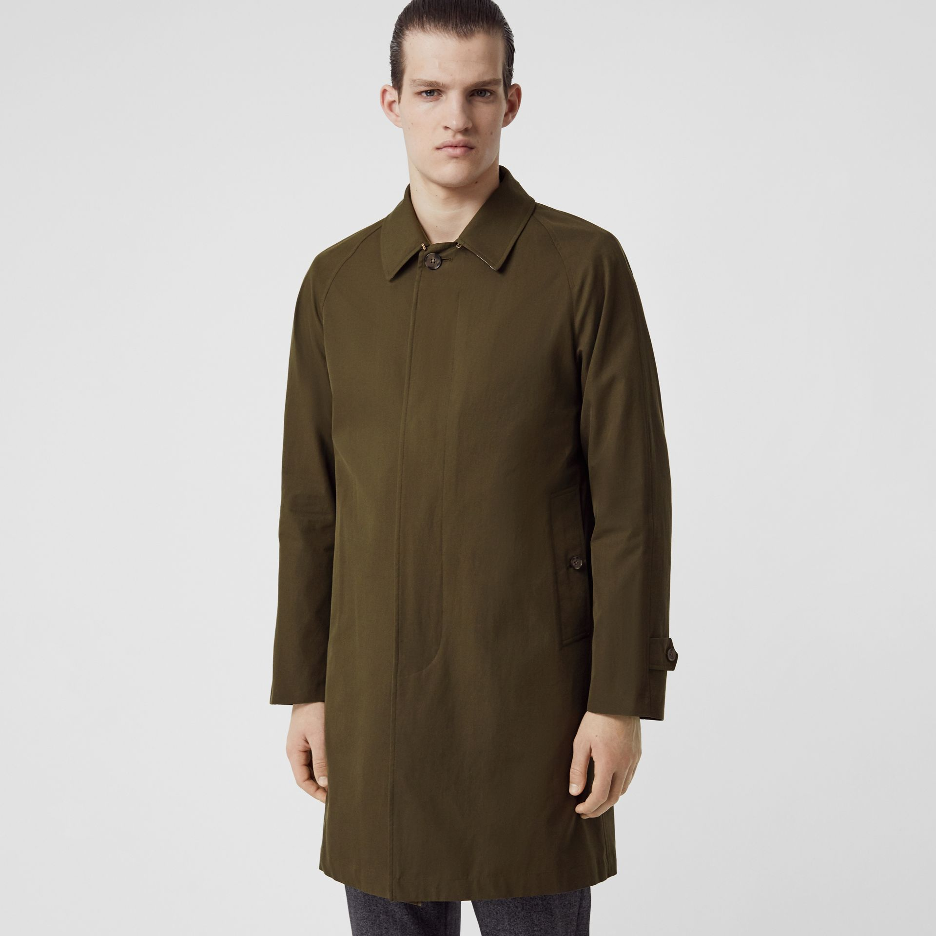 The Camden Car Coat in Dark Military Khaki - Men | Burberry Australia - gallery image 6