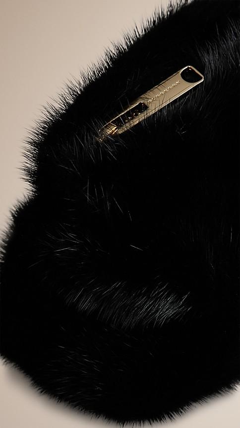 Black Mink Clutch Bag - Image 5