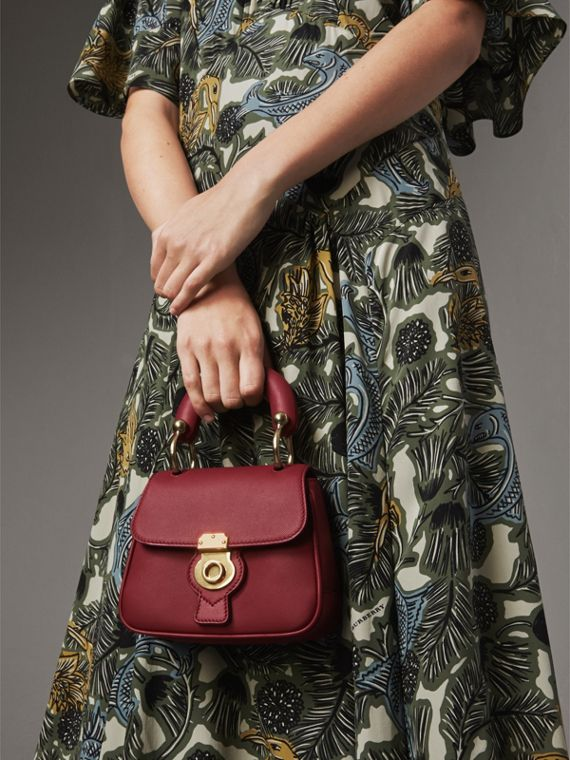 The Mini DK88 Top Handle Bag in Antique Red - Women | Burberry - cell image 3