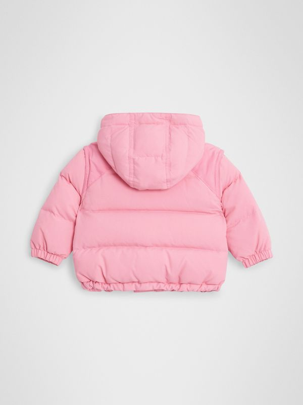 Down-filled Hooded Puffer Jacket in Ice Pink - Children | Burberry United Kingdom - cell image 3