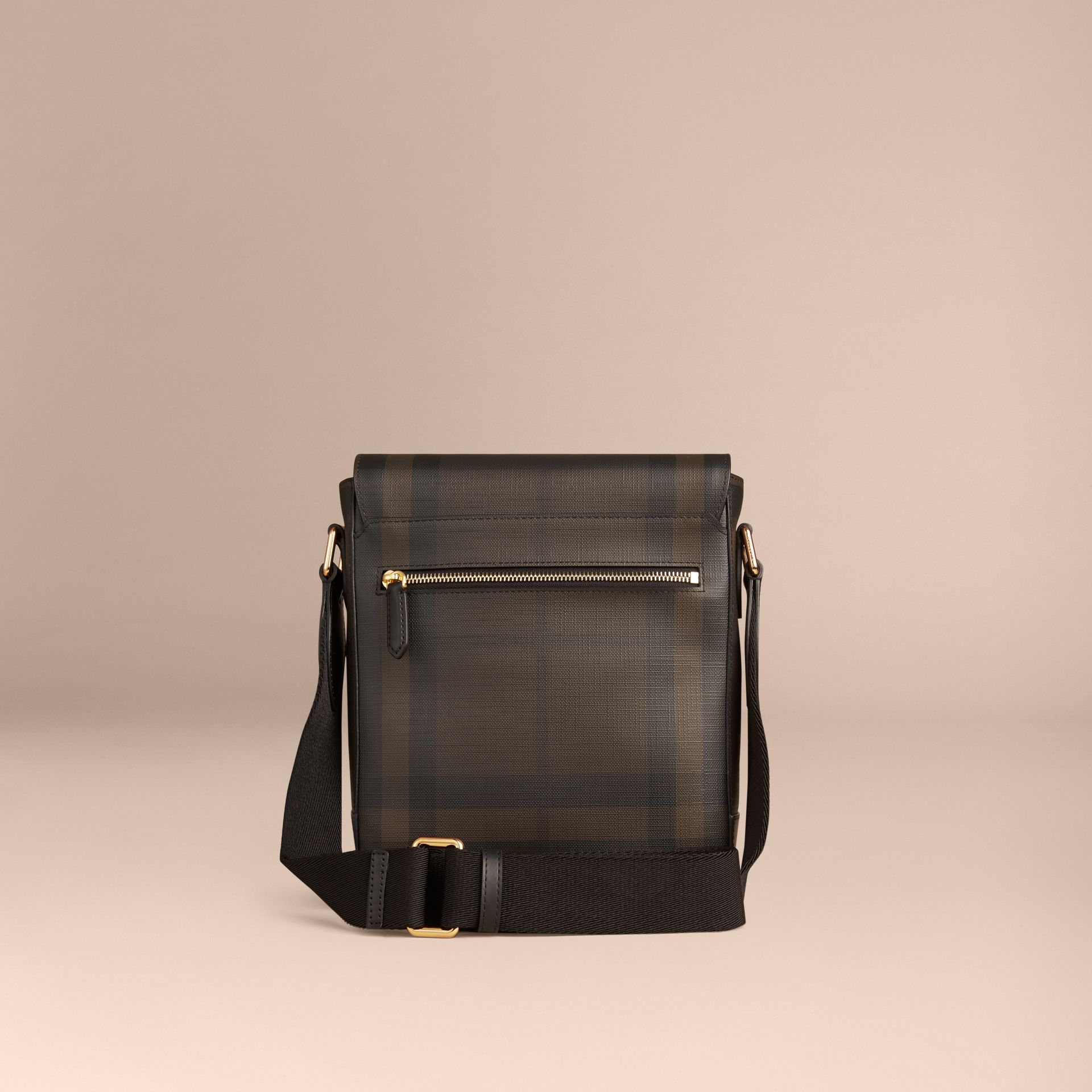 London Check Crossbody Bag in Chocolate/black - gallery image 4