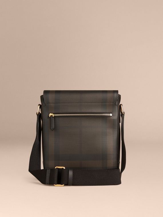 London Check Crossbody Bag in Chocolate/black - cell image 3