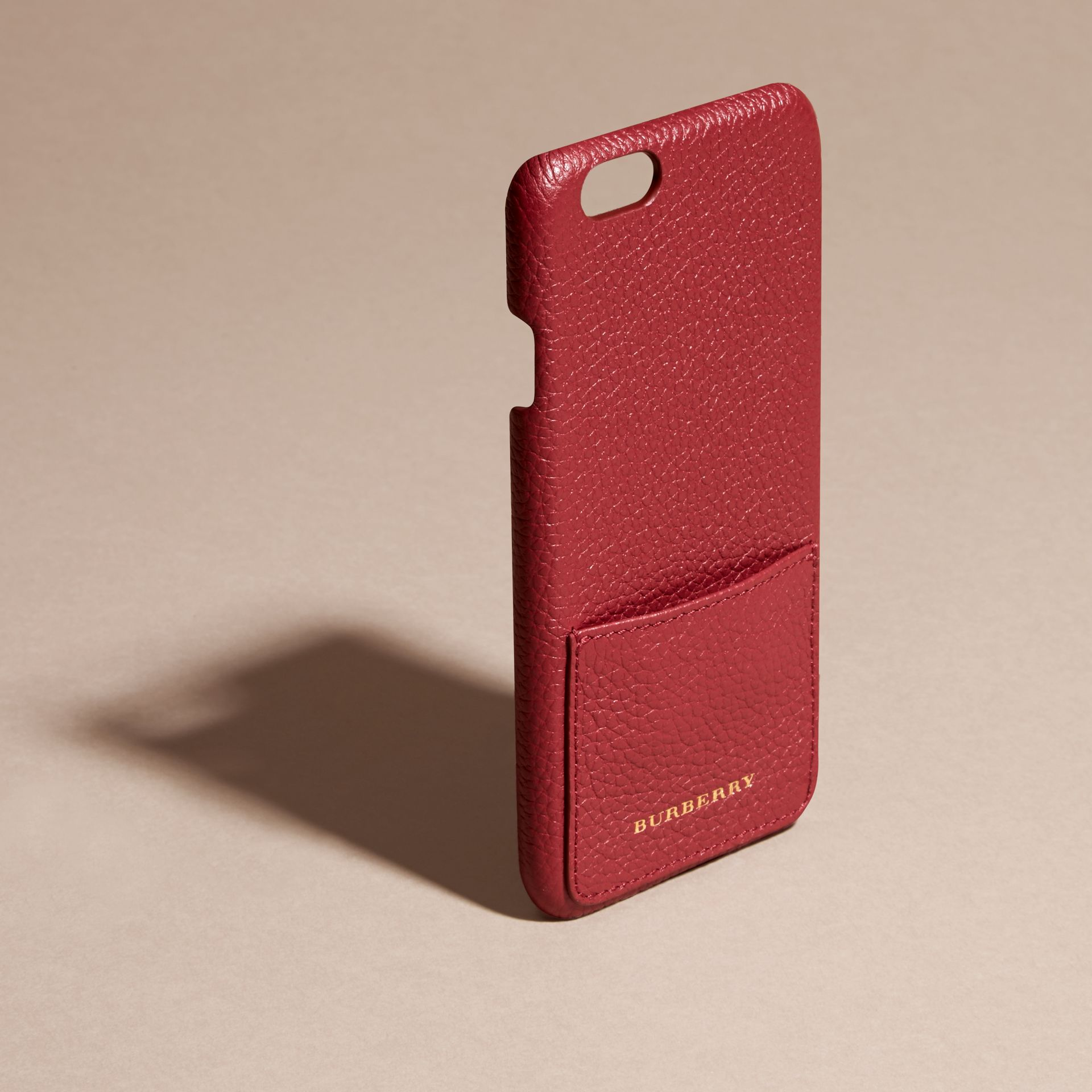 Grainy Leather iPhone 6 Case in Parade Red | Burberry Singapore - gallery image 3