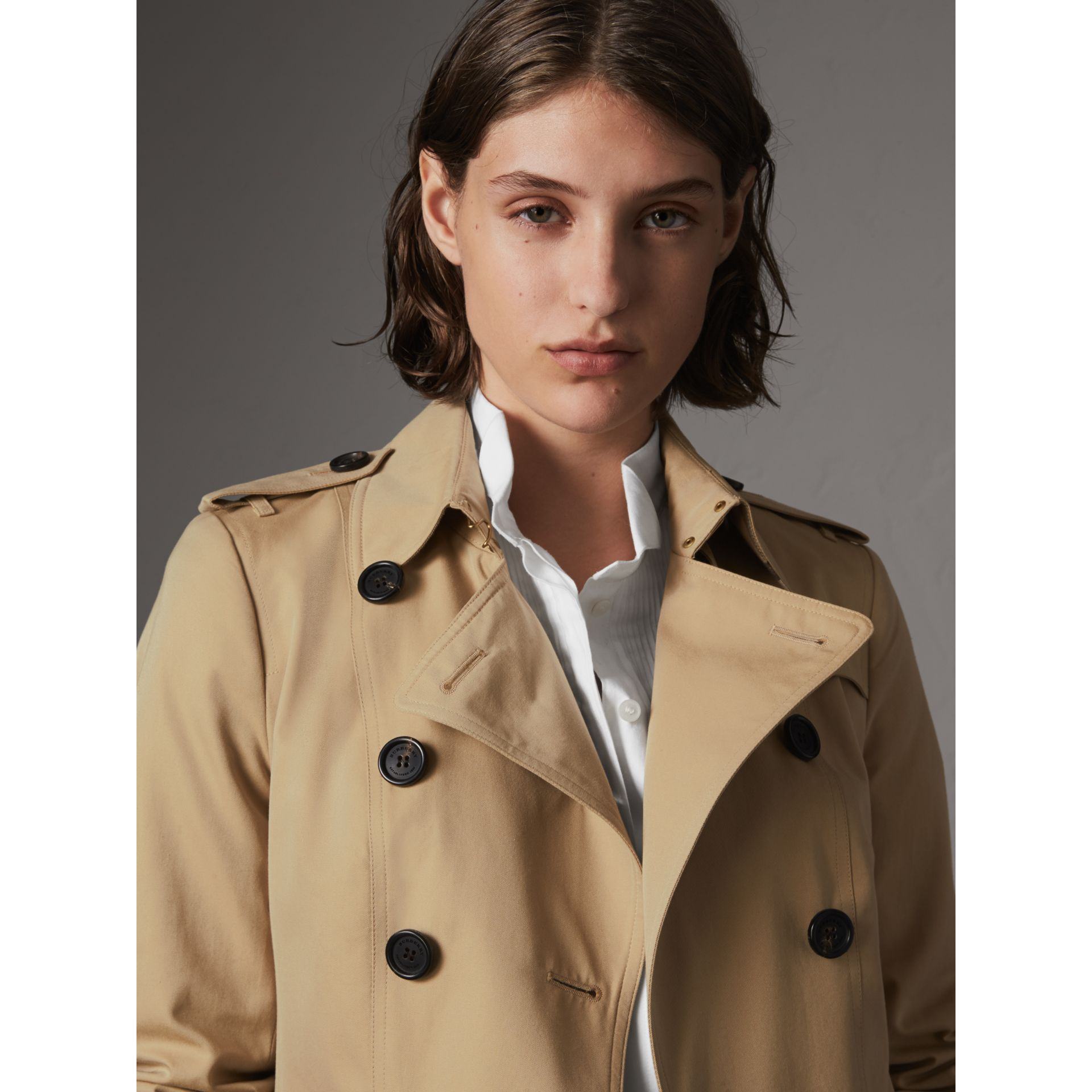 The Sandringham – Mid-Length Heritage Trench Coat in Honey - Women | Burberry - gallery image 8