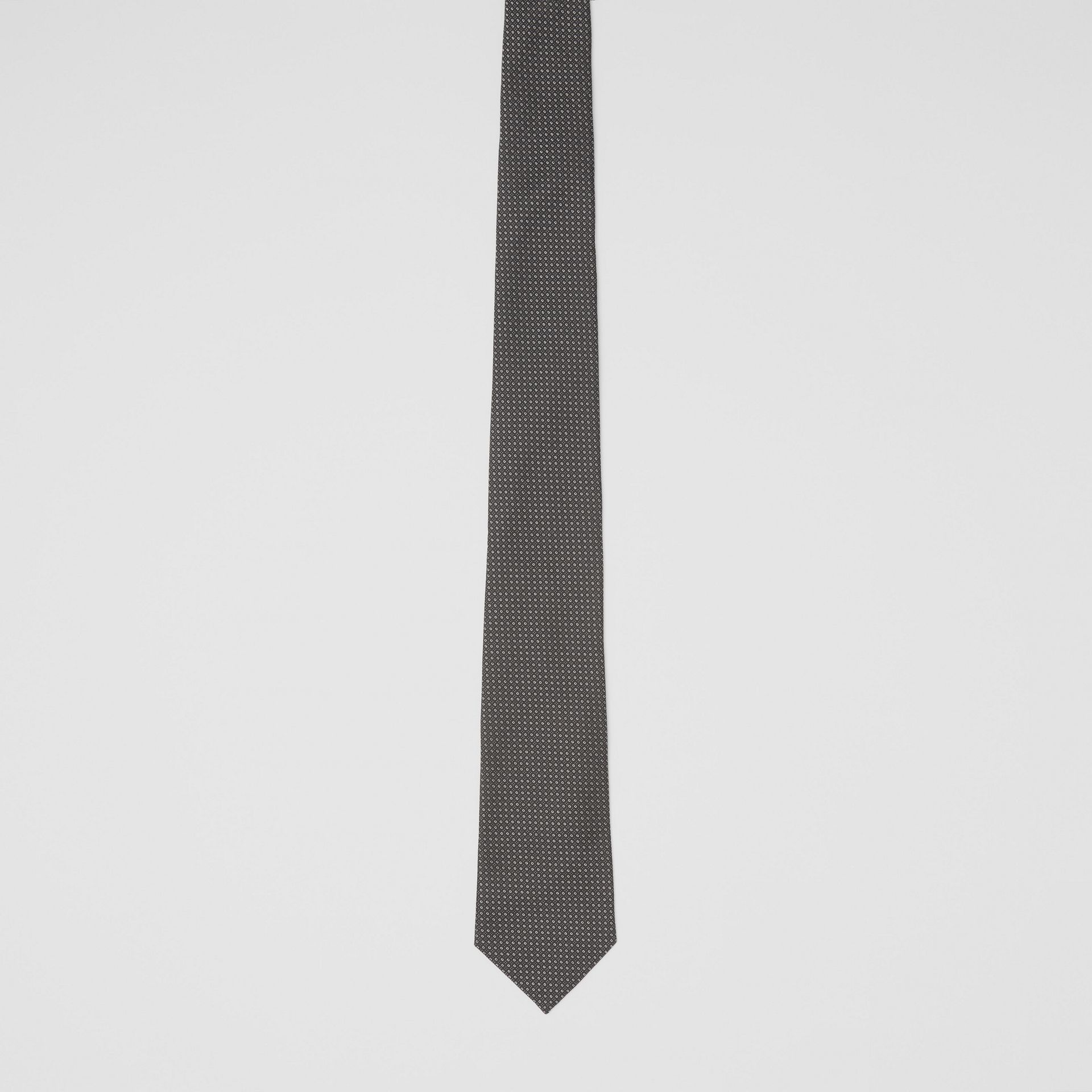 Classic Cut Micro Dot Silk Jacquard Tie in Black - Men | Burberry - gallery image 3