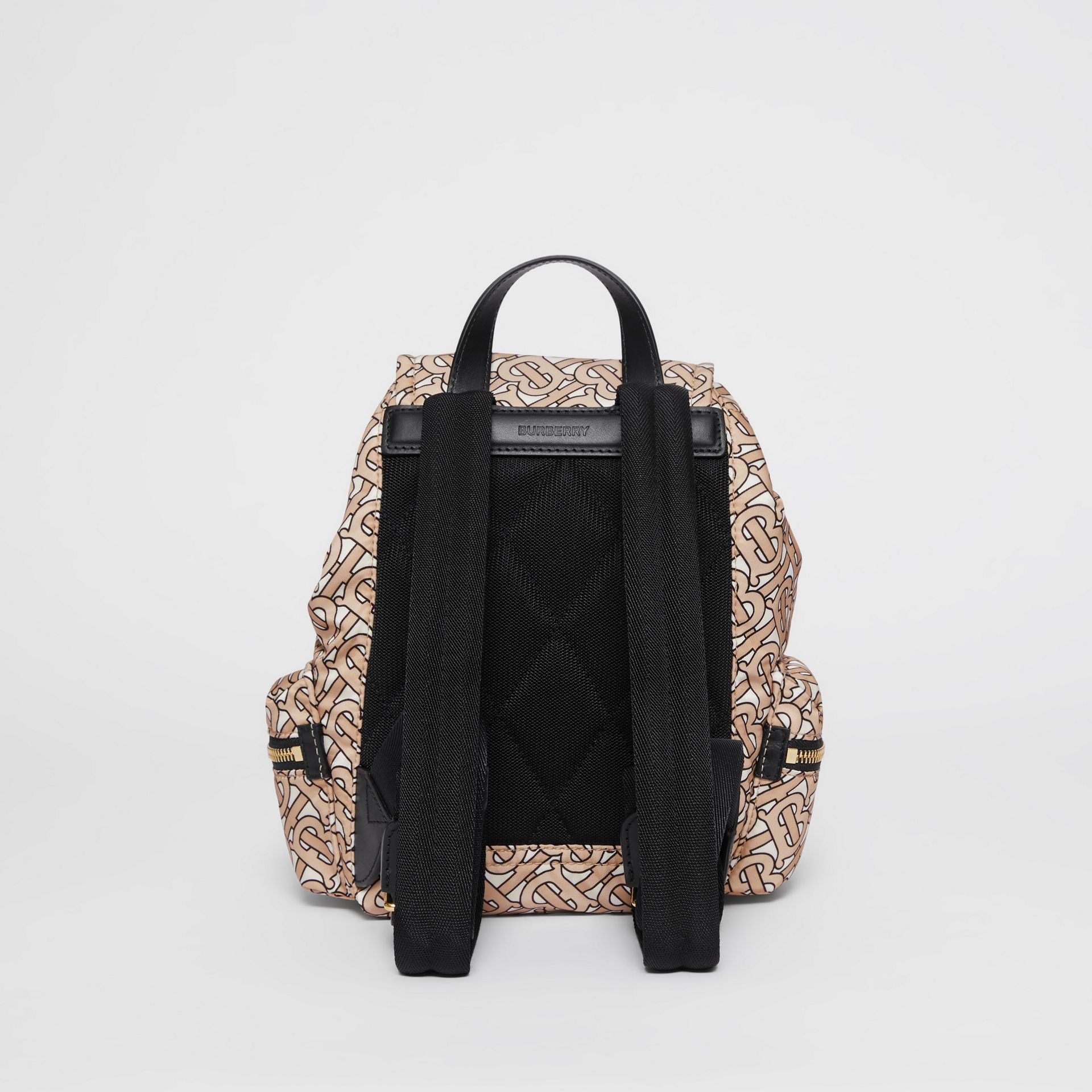 The Small Rucksack in Monogram Print Nylon in Beige - Women | Burberry United Kingdom - gallery image 7