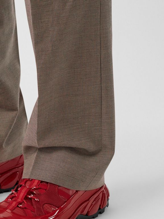 Pocket Detail Wool Tailored Trousers in Beige - Men | Burberry - cell image 1