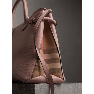 Burberry - Sac The Banner medium en cuir et coton House check - 2