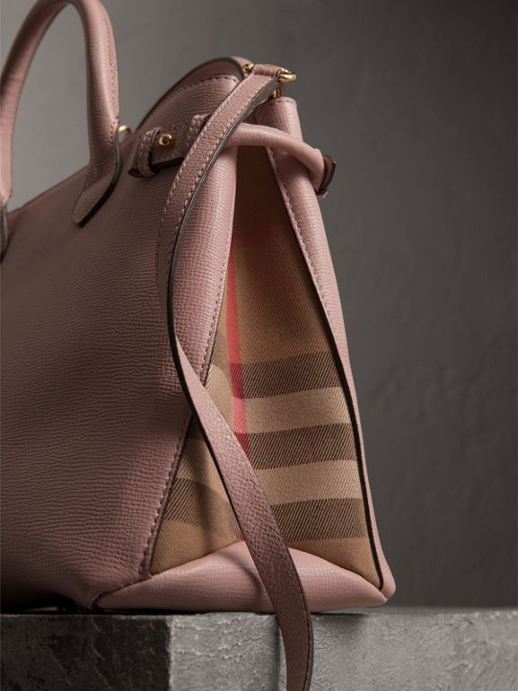 The Medium Banner aus Leder und House Check-Gewebe (Helles Orchideenfarben) - Damen | Burberry - cell image 1