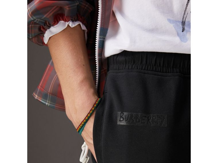 Burberry x Kris Wu Sweatpants in Black - Men | Burberry United Kingdom - cell image 1
