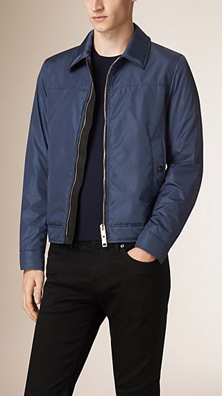 Lightweight Leather-Trimmed Blouson