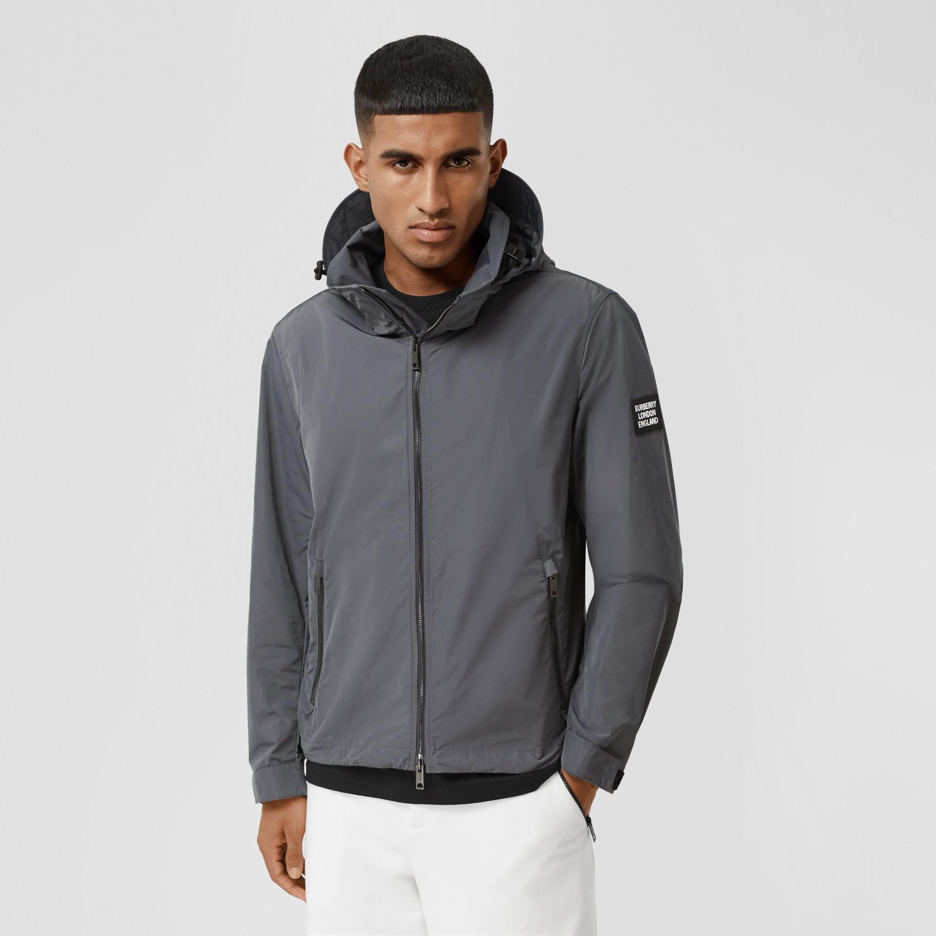 Packaway Hood Shape-memory Taffeta Jacket in Steel Grey - Men | Burberry United States - gallery image 6