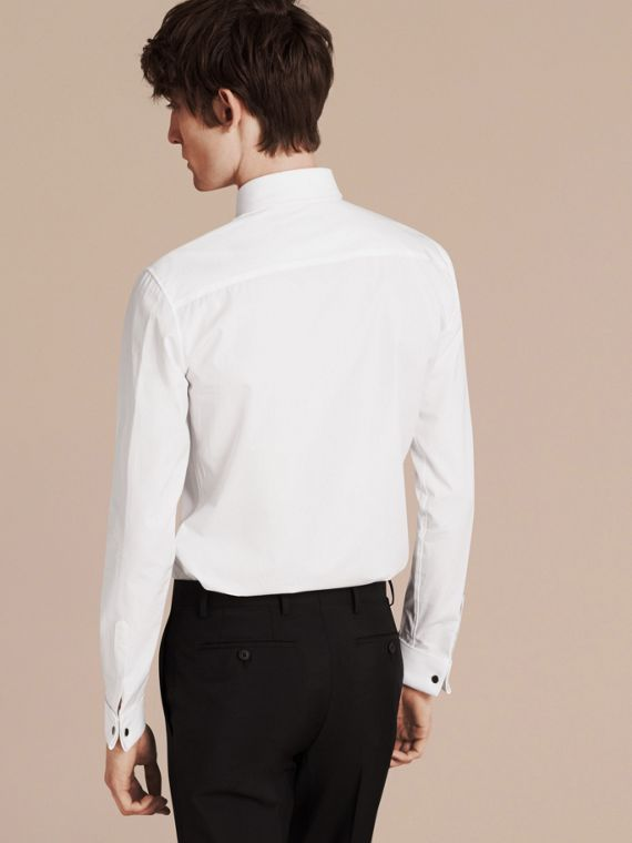 Slim Fit Double-cuff Cotton Poplin Shirt - Men | Burberry - cell image 2