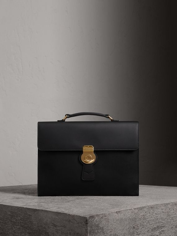 The Large DK88 Document Case in Black/black