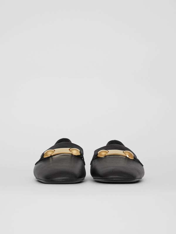 Mocassini in pelle con placchetta con borchie (Nero) - Donna | Burberry - cell image 3