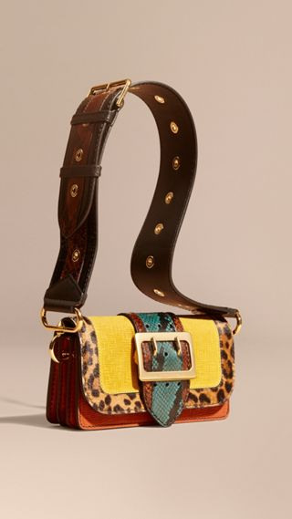 The Patchwork in Textured Suede and Leopard-print Calfskin