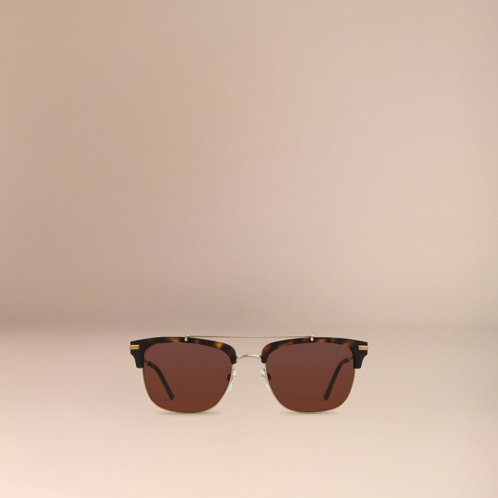Square Frame Sunglasses Brown - gallery image 3