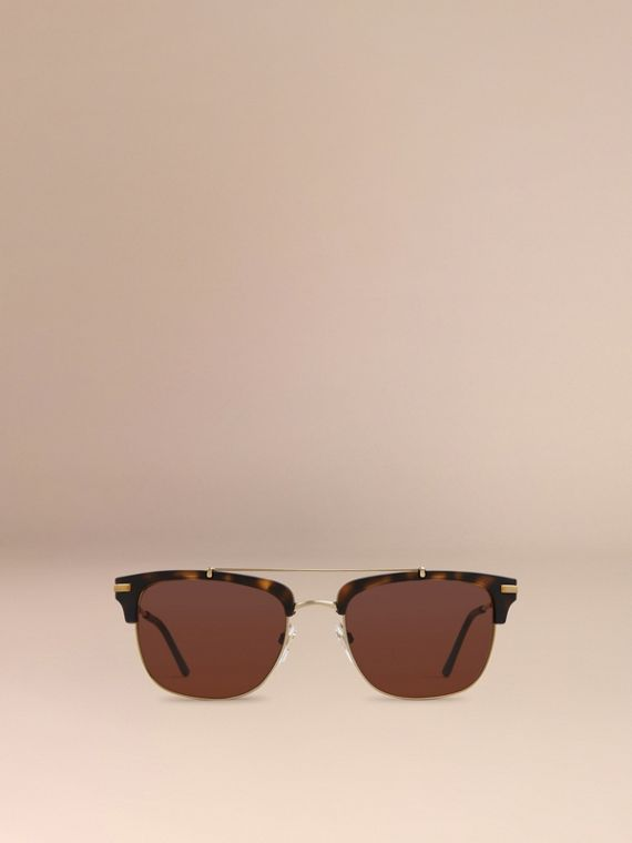 Brown Square Frame Sunglasses Brown - cell image 2