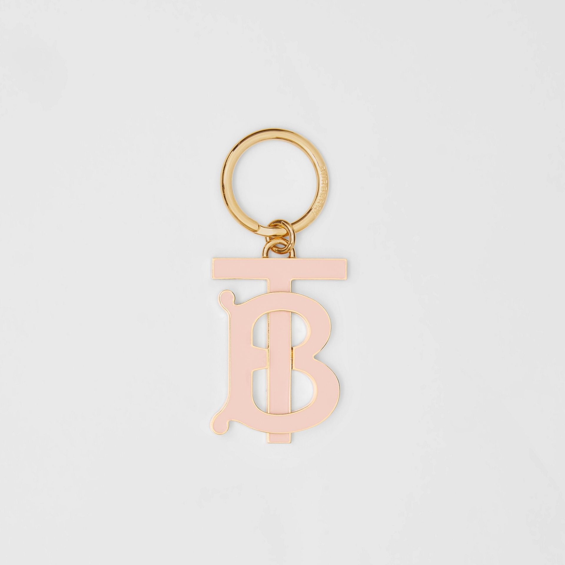 Monogram Motif Gold-plated Key Charm in Rose Beige - Women | Burberry United States - gallery image 0
