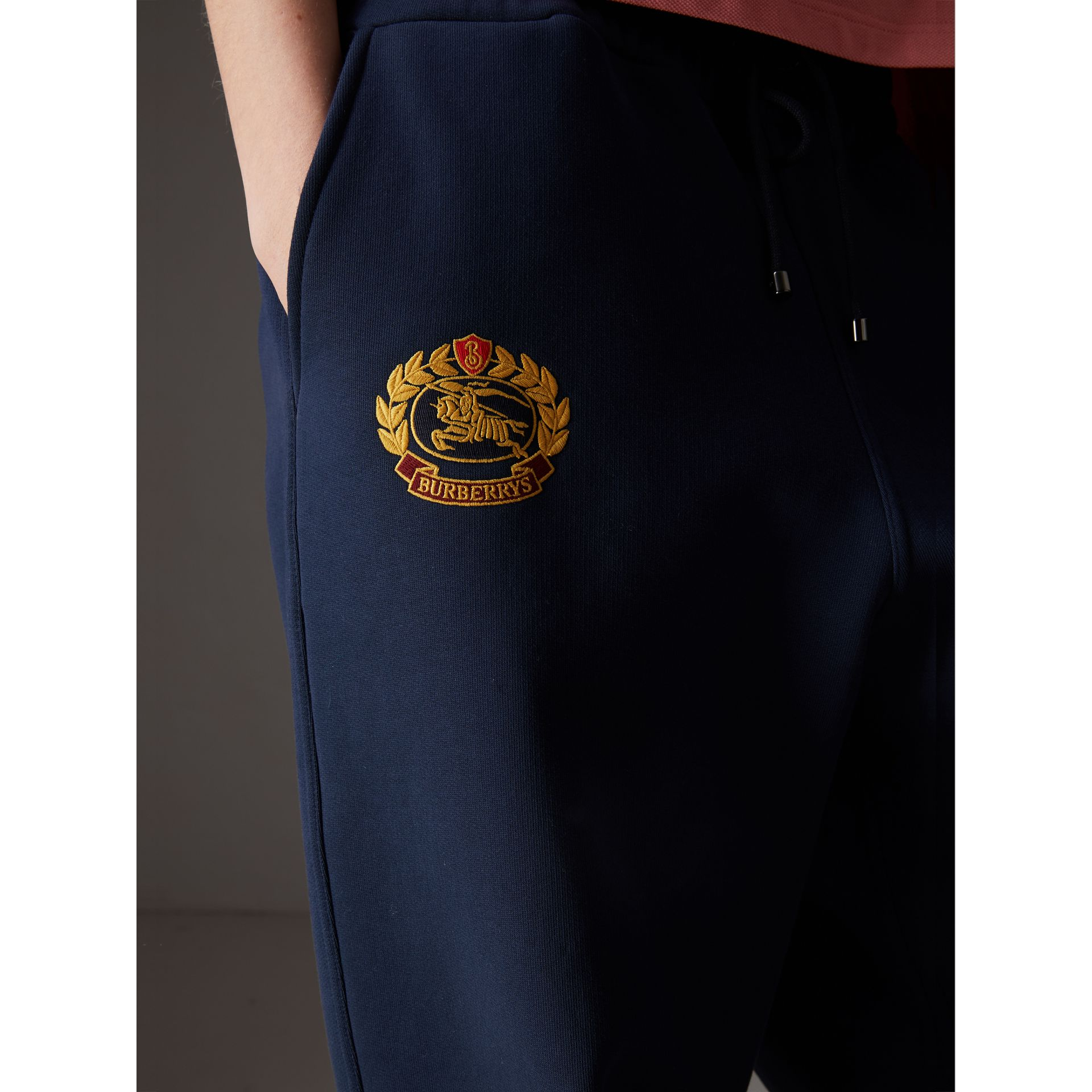Archive Logo Jersey Sweatpants in Dark Blue - Women | Burberry Australia - gallery image 1