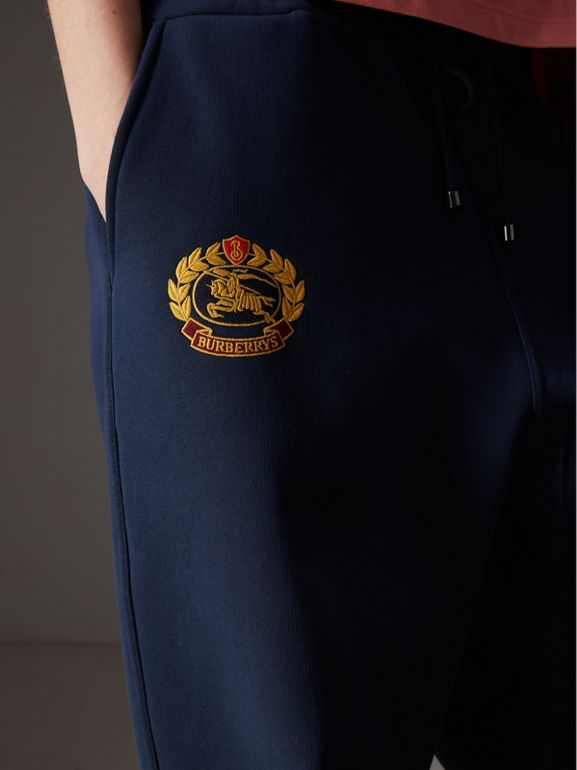 Archive Logo Jersey Sweatpants in Dark Blue - Women | Burberry Australia - cell image 1