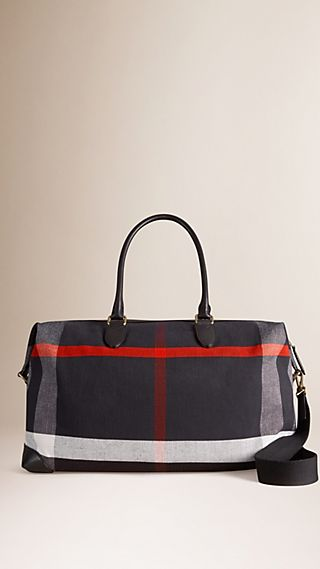Canvas Check Holdall