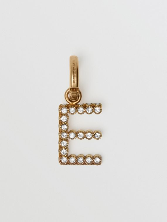 Crystal 'E' Alphabet Charm