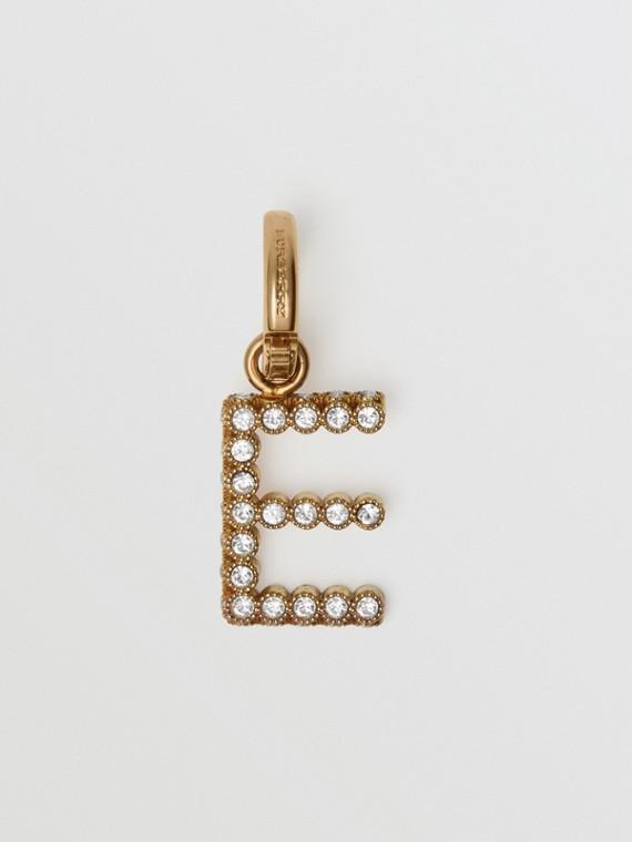 Bijou alphabet «E» en cristal