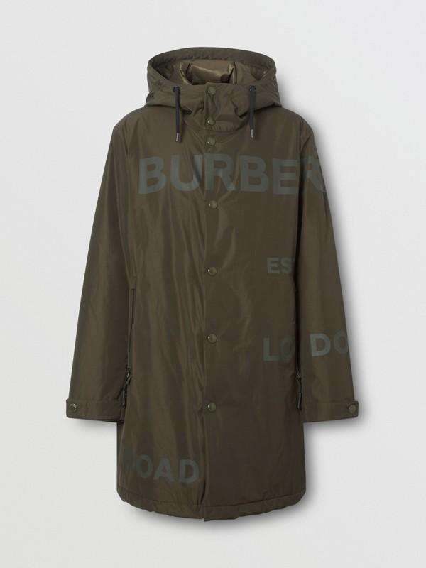 Horseferry Print Shape-memory Taffeta Hooded Coat in Khaki - Men | Burberry - cell image 3