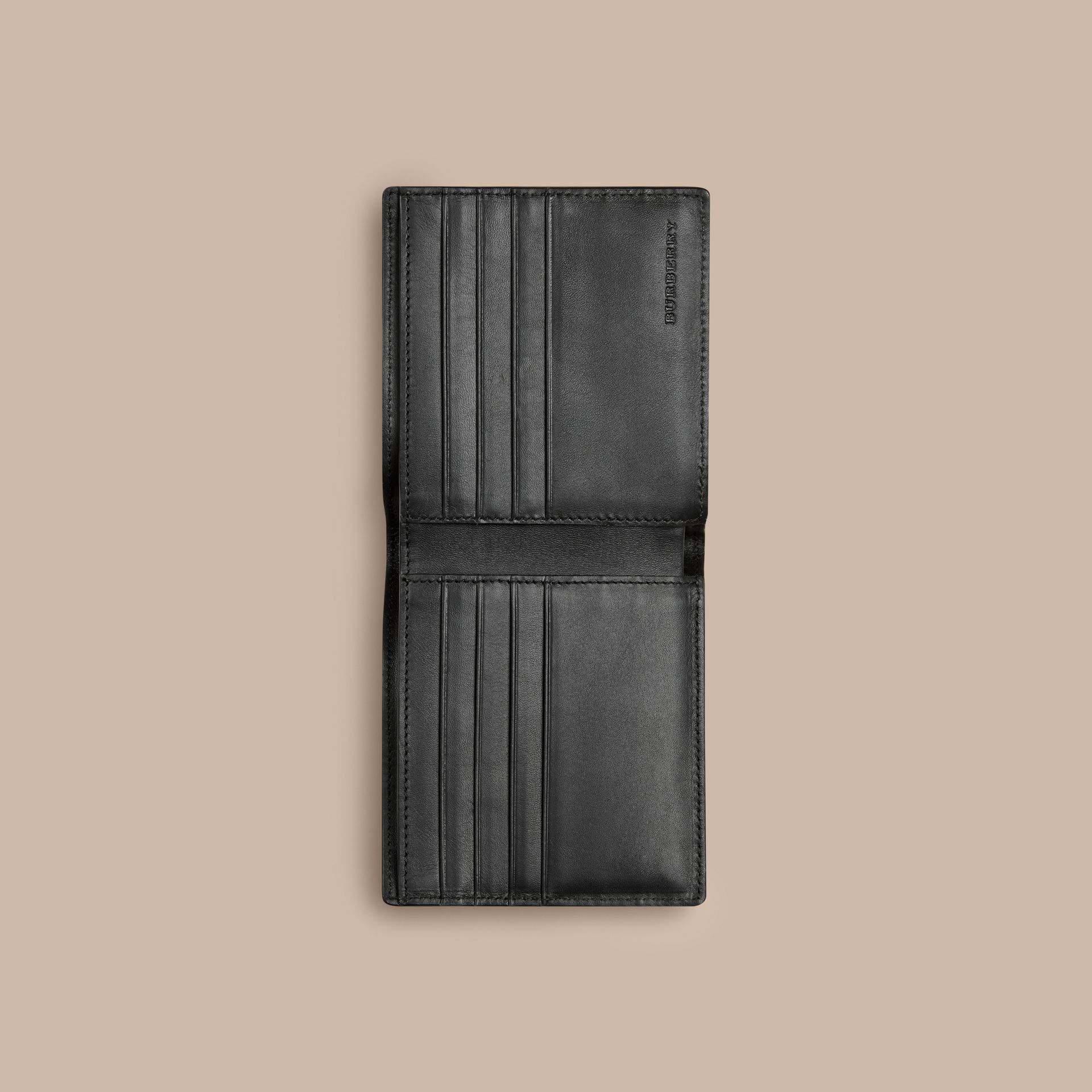 Navy/black London Check Folding Wallet Navy/black - gallery image 4