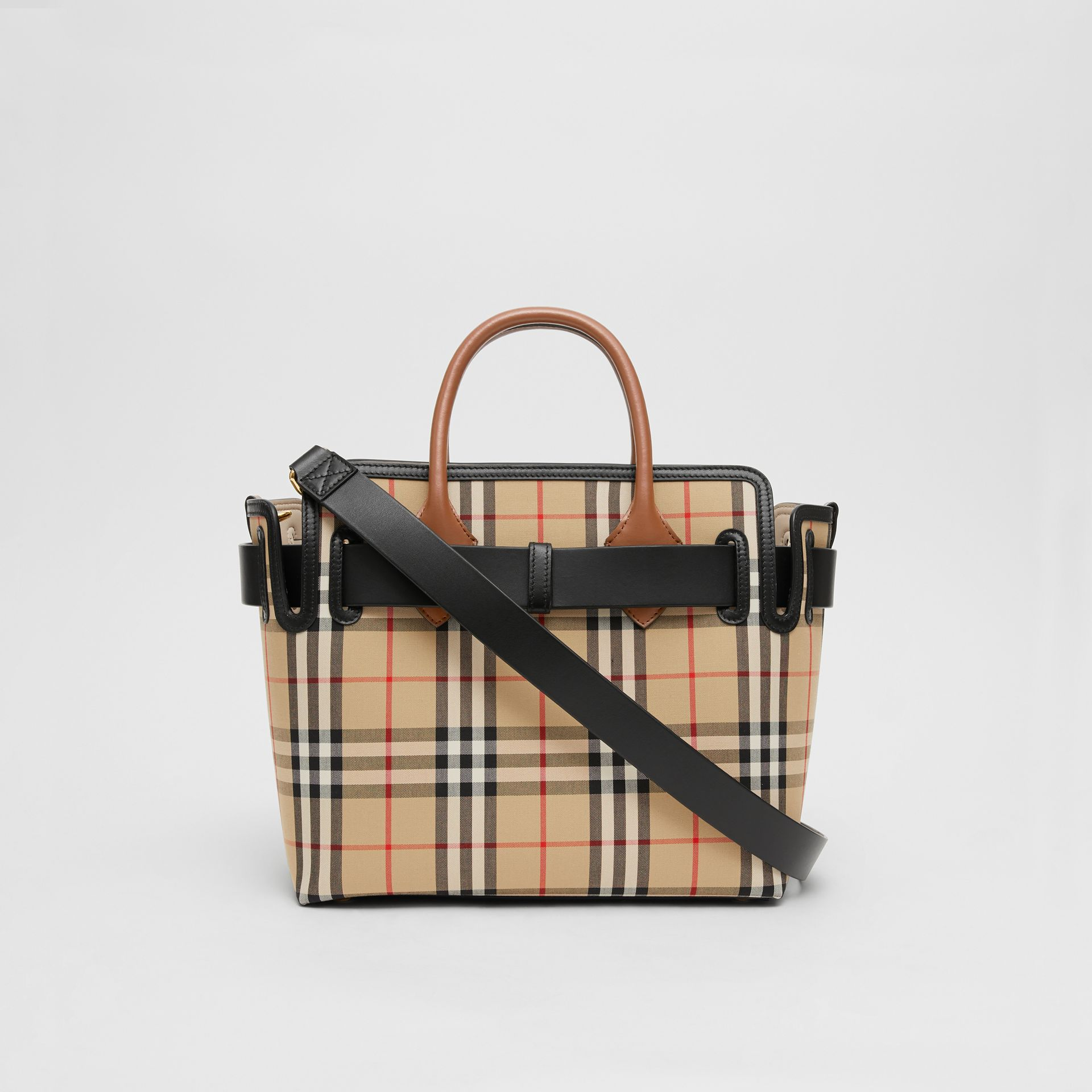 The Small Vintage Check Triple Stud Belt Bag in Archive Beige - Women | Burberry Canada - gallery image 7
