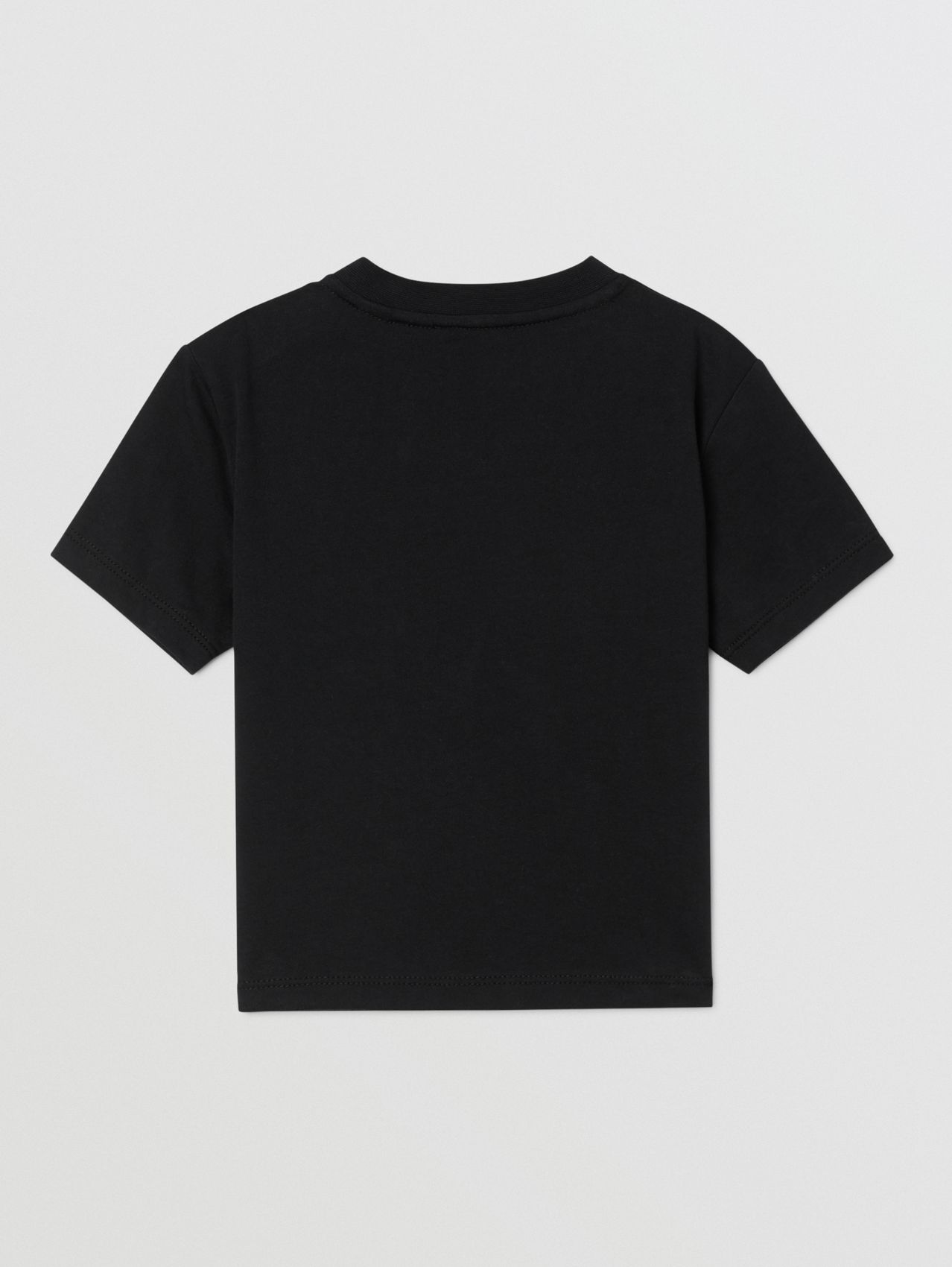 Logo Print Cotton T-shirt (Black)