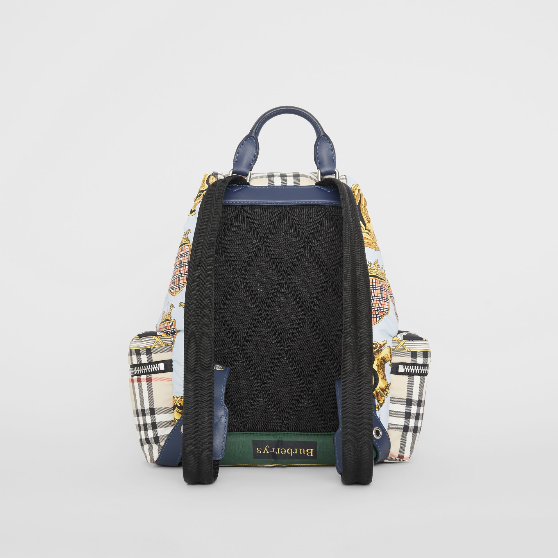 The Medium Rucksack in Archive Scarf Print in Ink Blue - Women | Burberry United Kingdom - gallery image 7