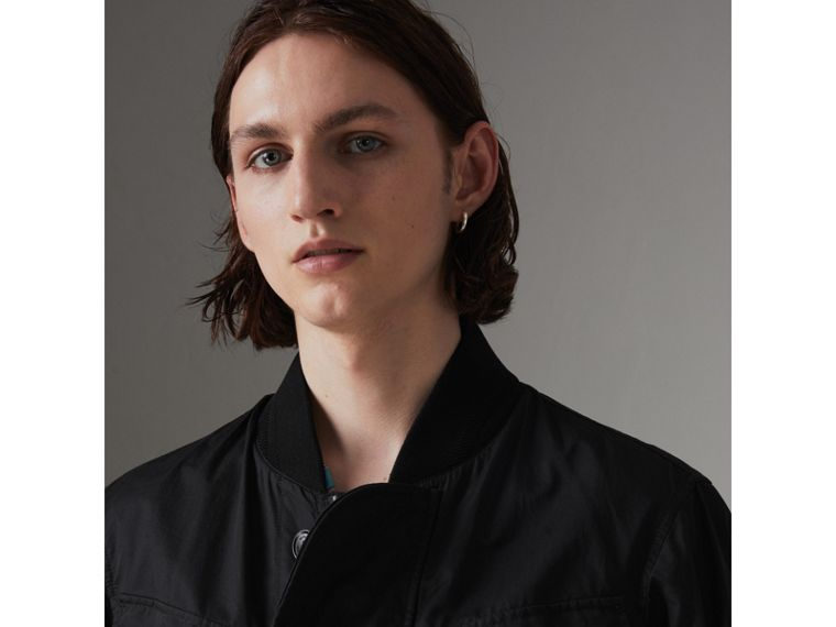 Pocket Detail Cotton Bomber Jacket in Black - Men | Burberry Australia - cell image 1