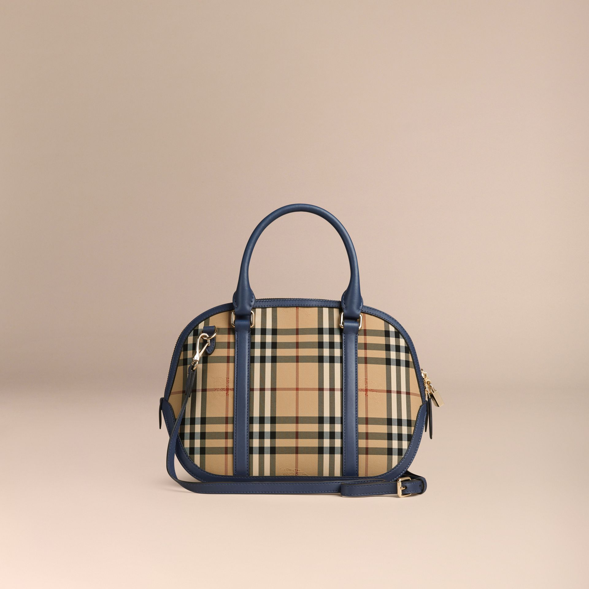 Honey/brilliant navy The Small Orchard in Horseferry Check Honey/brilliant Navy - gallery image 4