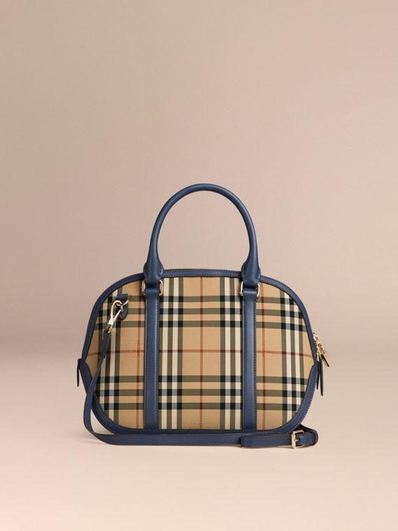 Honey/brilliant navy The Small Orchard in Horseferry Check Honey/brilliant Navy - cell image 3