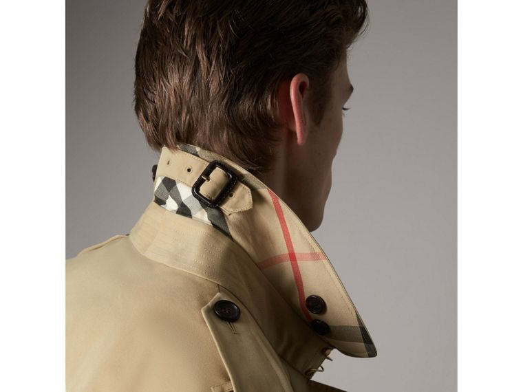The Sandringham – Short Trench Coat in Honey - Men | Burberry - cell image 1