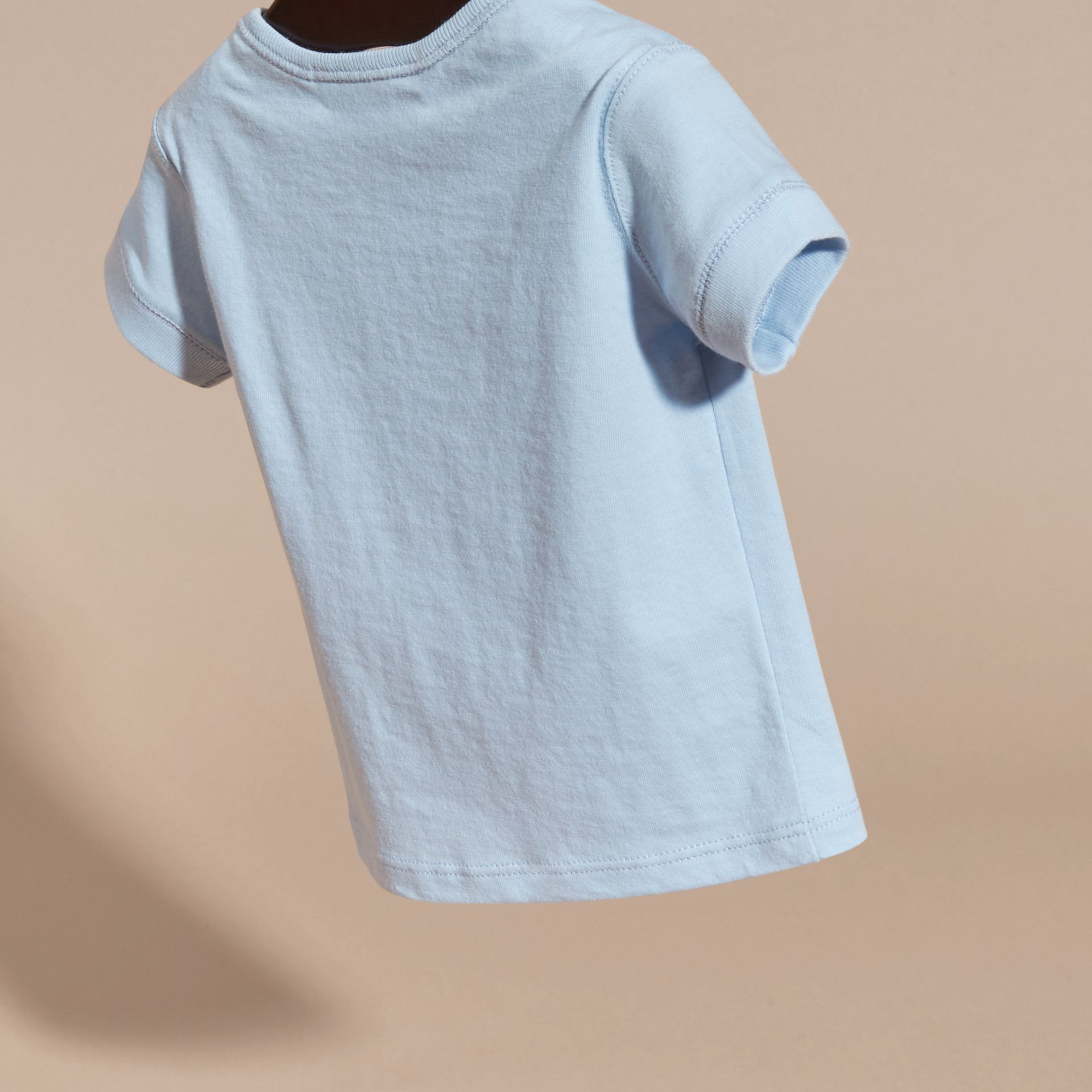 Check Pocket T-shirt in Light Blue - gallery image 4