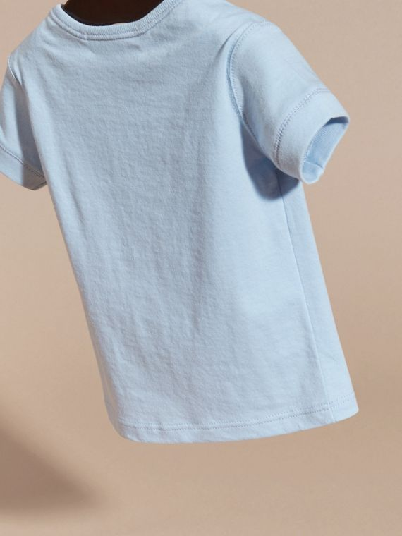 Check Pocket T-shirt in Light Blue - cell image 3