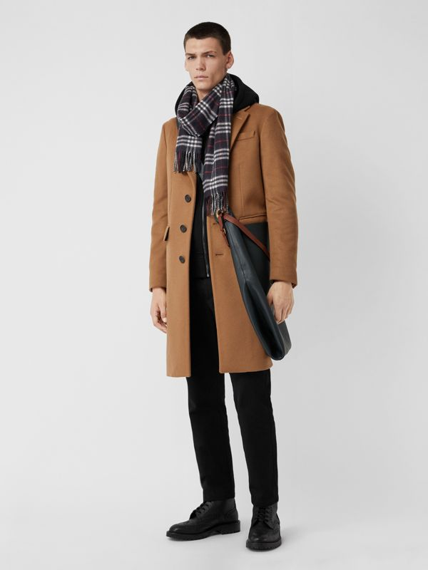 Check Cashmere Scarf in Navy | Burberry Canada - cell image 3