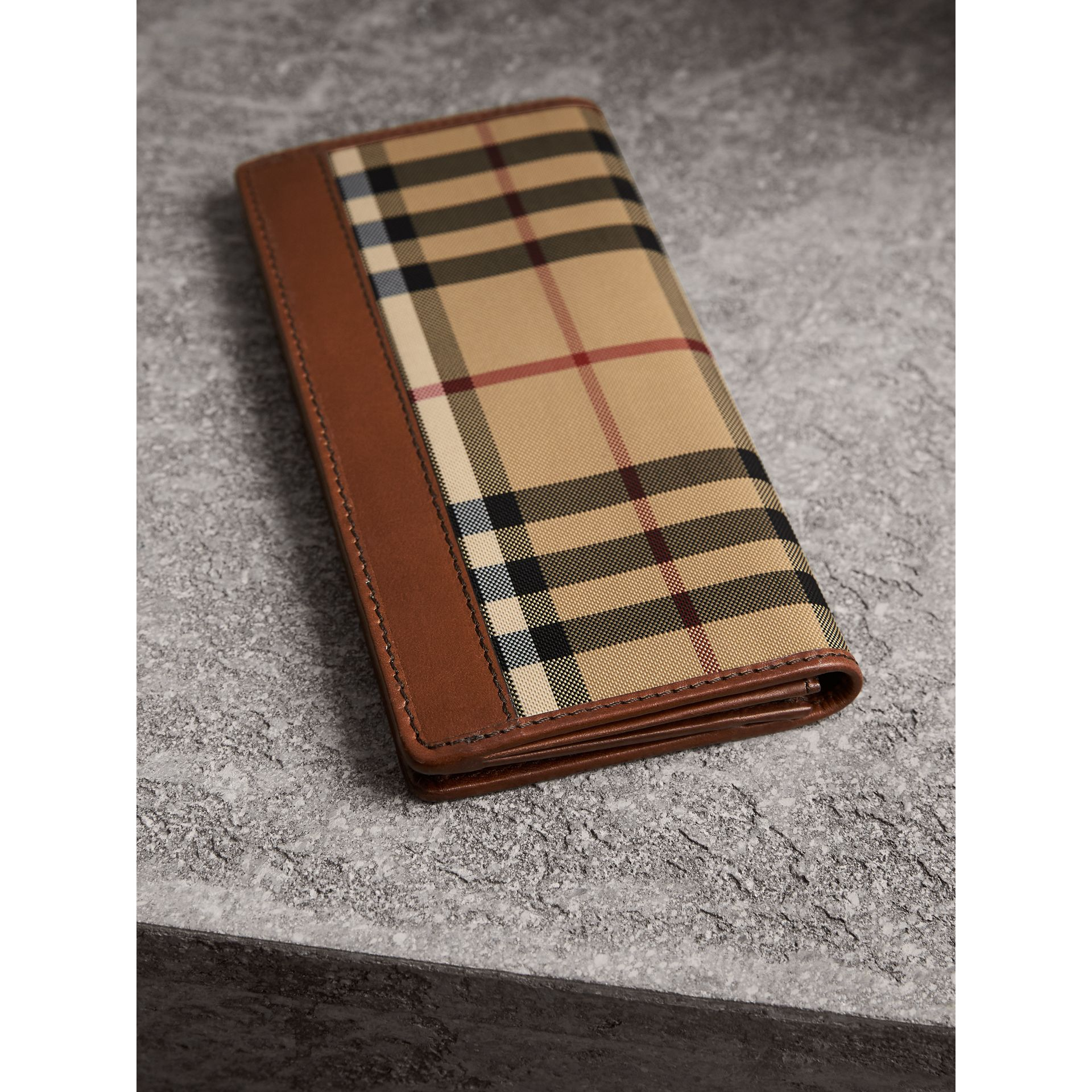 Horseferry Check Continental Wallet in Tan - Men | Burberry - gallery image 2