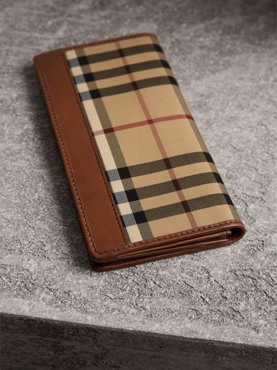 Horseferry Check Continental Wallet in Tan - Men | Burberry United States - cell image 2