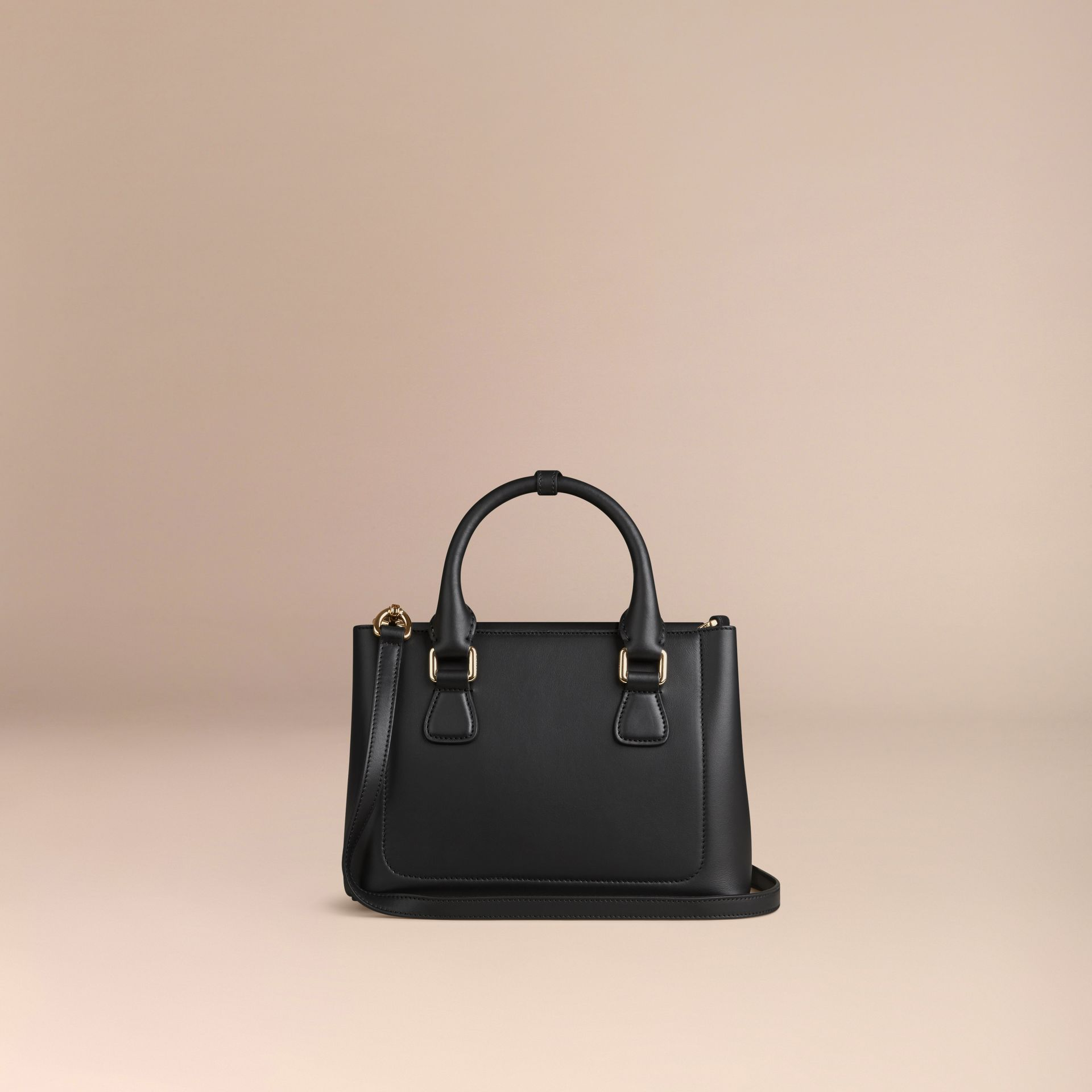 Black The Small Saddle Bag in Smooth Bonded Leather Black - gallery image 4