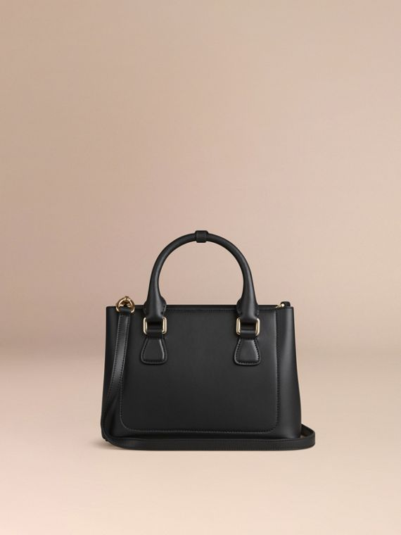 Black The Small Saddle Bag in Smooth Bonded Leather Black - cell image 3