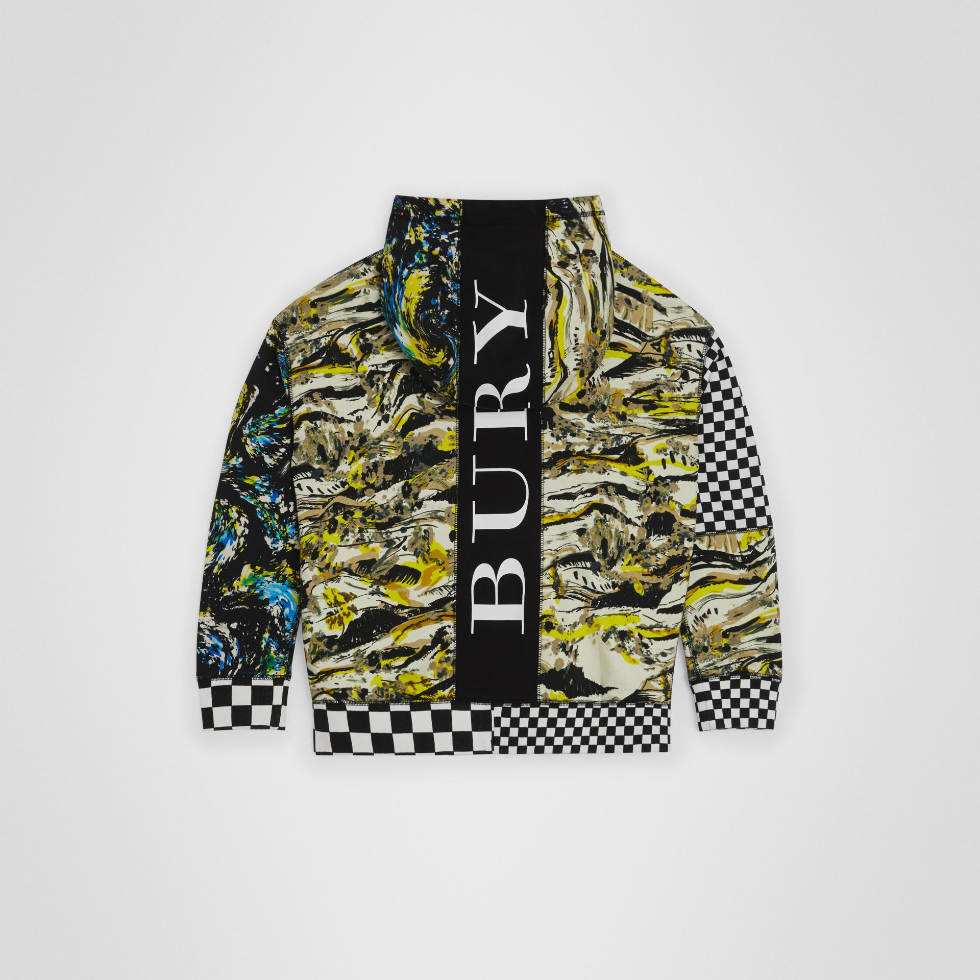 Graphic Print Cotton Hooded Top in Multicolour | Burberry - gallery image 3