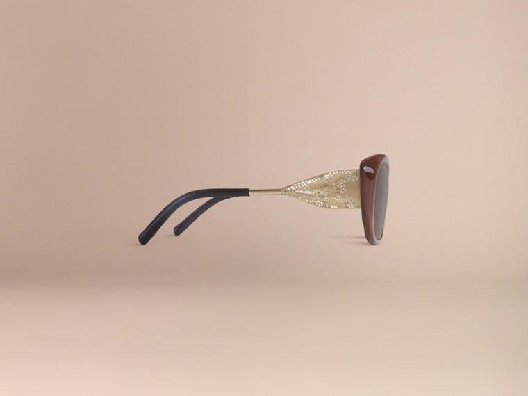 Ambra scuro Occhiali da sole con montatura quadrata collezione Gabardine Ambra Scuro - cell image 4