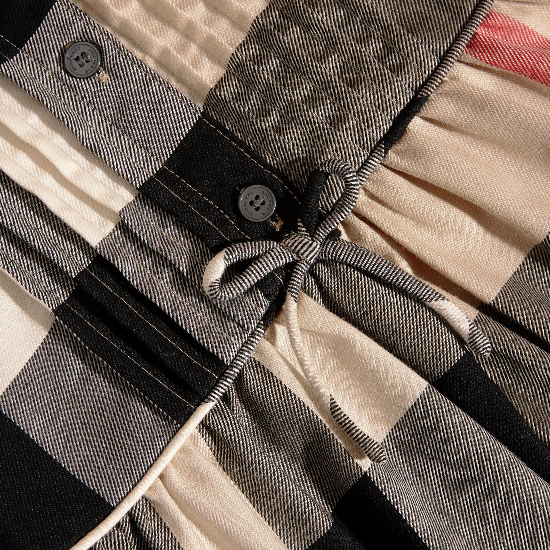 New classic check Check Pintuck Detail Cotton Dress - gallery image 2