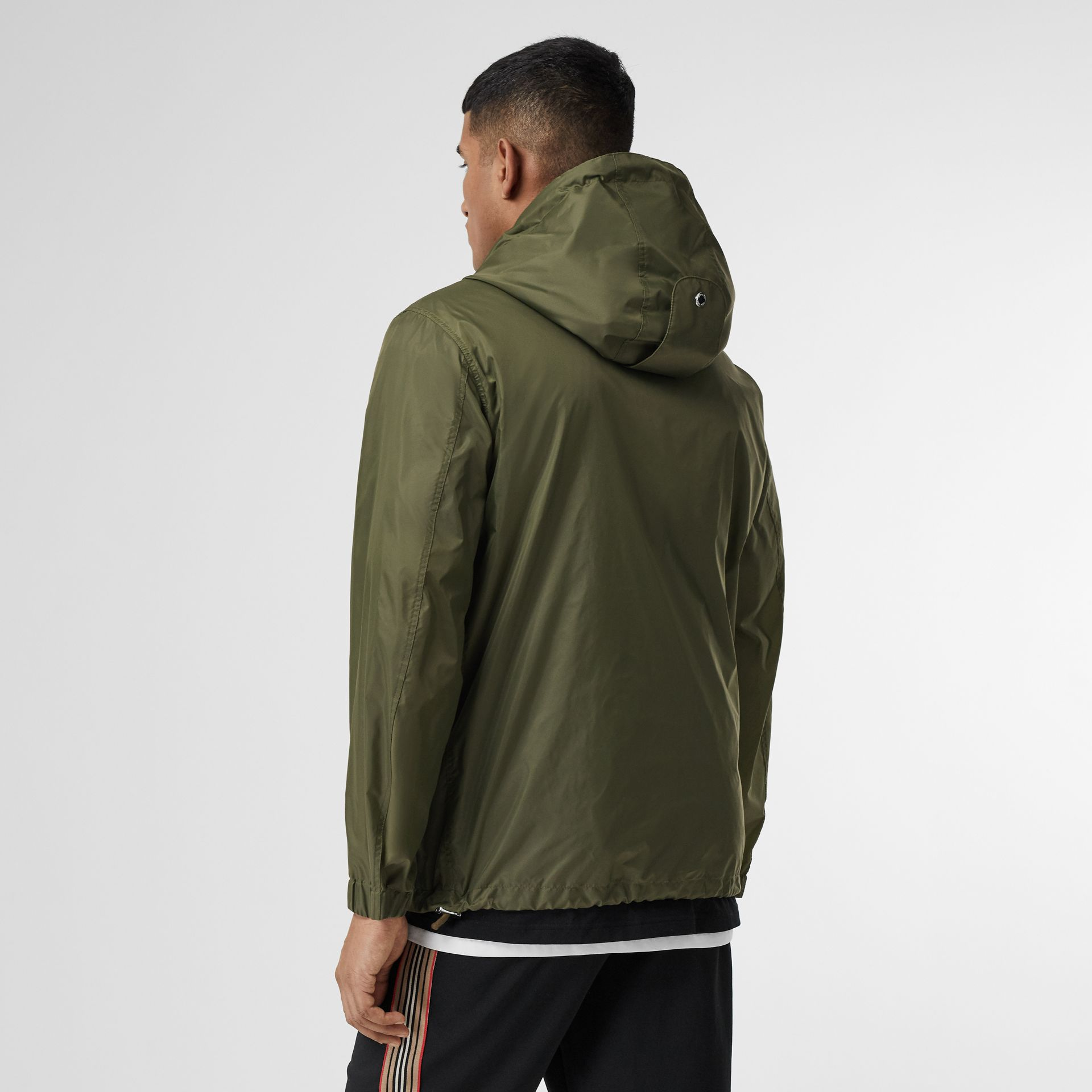 Monogram Motif Lightweight Hooded Jacket in Light Olive - Men | Burberry United Kingdom - gallery image 2
