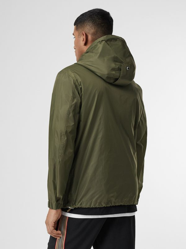 Monogram Motif Lightweight Hooded Jacket in Light Olive - Men | Burberry - cell image 2